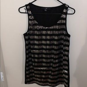 Forever 21 Stripe Glitter Top (Great Condition)